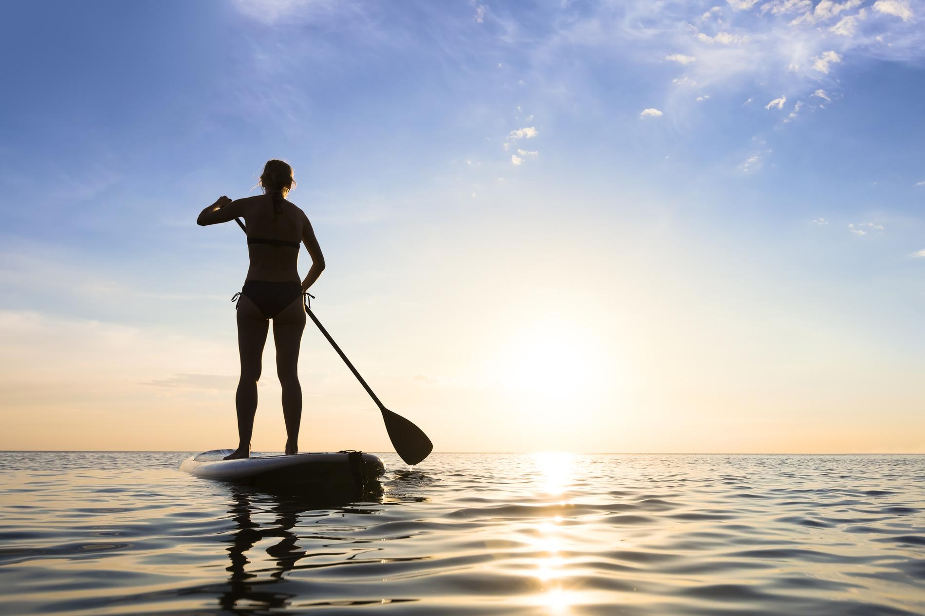 a picture of stand up paddle boarding tv